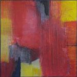 Rote Umarmung / Acryl  auf Textil / 120 x 120cm / 2019