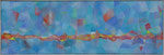 Harlekin / Oel auf Textil / 41 x 120cm / 2016
