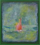 Nauders 1 / Acryl auf Gips, Filz / 41 x 46cm /2015