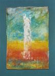 Weiser / Acryl auf Textil, Filz / 48 x 65cm / 2015