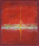 Geknister / Acryl auf Gips, Filz / 81 x 97cm / 2015