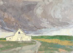 White Barn #2  22x28 $1200