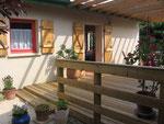 terrasse en bois privée côté ouest