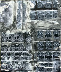 Die dunkle Seite in mir, 66x55, A+M auf MDF-Platte, o.R.