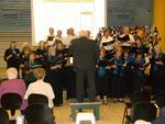 Chorale Protestante dirigé par Jean Pierre Nougier,  l'heureux gagnant de la tombola