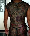 龍 桜 甲羅彫り