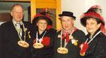 Die Beamten 1988: Josef Berchtold, Under Christie Rohrer, König Kari Ming, Näll Margrit Bossert