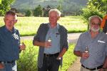 Geburtstagsfeier 2011: Burch Bruno, von Ah Godi, Halter Sepp