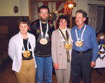die Beamten 1999: Under Vreni Halter, König Bruno Zumbühl, Ober Margrit Spitzmüller, Näll Paul Enz