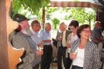 Geburtstagsfeier 2011: Apéro im Garten