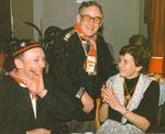 Geissober 1982: Max Berchtold mit Walti Zünd und Gritli Mathis