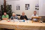 der Vorstand: Statthalter Dominik Enz, Weibel Oski Köchli, Säckelmeister Sepp Burch, Ammä Bruno Abächerli