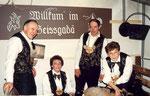 Die Beamten 1992: König Walti Zünd, Näll Dori Abächerli, Ober Zumstein Sepp, Under Gritli Mathis