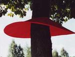 """""""Baumröcke"""", Bramscher Rot, roter Stoff, Draht, BT 150 cm"""