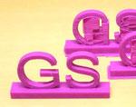 完成した「グローバルサイエンス科」のロゴ造形物