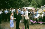 Le Prince Richard de Mérode coupe le ruban inaugural en compagnie du président Paul Martin