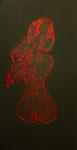 RED DIVA    50 x 100 cm