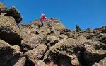 Kletternd auf dem Osser-Südwestgrat