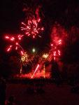 le spectacle pyrotechnique au château Beychevelle