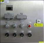 Schaltkasten mit Erfassungselektronik für Vibrator und Hammer