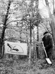 Gerhard-Moll-Wald mit seinem Namensgeber