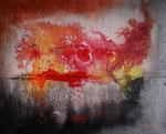 Glut am Horizont, Acryl auf Keilrahmen, 40x50 cm 95 Euro