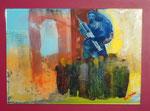 """Anbetung der heiligen Vaccina, Acryl und Resin auf Spiegel 50x60 auf Träger 60x70, €350 (alle """"Spiegelbilder sind nur schlecht von seitlich zu fotografieren und perspektivisch nachbearbeitet)"""
