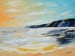 Küste am Abend, Acryl auf Keilrahmen, 60x80, 155 Euro