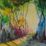 endlich Frühling, Airbrush 50x50 cm, in weissem Rahmen 170 Euro, vergeben