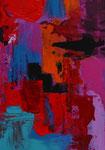 3-er serie Faszination der Farben, II,Acryl auf Keilrahmen, 21x30 cm gerahmt  30x40, 95 Euro