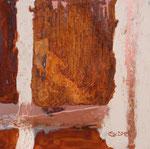 Kupferlandschaft I, Acryl auf Metallplatte, 30x30 70 Euro
