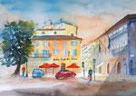 Florenz, Piazza San Marco, Aquarell, 36x51 cm, 150 Euro ohne Rahmen
