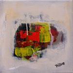 Primavera II, informell, Acryl auf Keilrahmen, 30x30 cm , Kursarbeit B. Klimmer vergeben