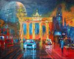 Wo gehts zum BER? Collage Mischtechnik, 80x100 cm Keilra. , 330 Euro