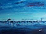 Ankunft auf Formentera, Acryl auf Keilr. 60x80 cm, 240 Euro