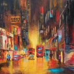london city, Acryl Collage, 100x100 cm , 390 Euro