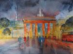 Nachtstimmung am Brandenburger Tor, 45x60 cm, 220 Euro ohne Rahmen