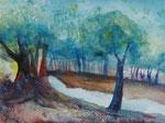 Waldweg, 30x40 cm, Kursarbeit B. Klimmer, 95 Euro