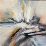 Bewegung, Acryl auf Keilrahmen, 50x50, Kursarbeit P. Seharsch 85 Euro