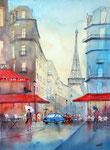 Paris, Eiffelturm, 48x61 cm, vergeben
