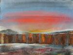 Kalte Steilküste, Acryl auf Keilrahmen. 60 x 80. Kurs B. Klimmer 160 Euro