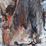 Fels in der Brandung, Mischtechnik 40x40 cm auf 8 cm dickem Keilrahmen 95 Euro