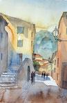 Valdemossa, Mallorca, 36x51 cm, 145 Euro ungerahmt, plein air gemalt
