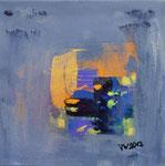 Sommernacht II, informell, Acryl auf Keilrahmen, 30x30 cm, Kursarbeit B. Klimmer
