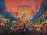 Champs Elysee bei Nacht, Acryl 60x80 cm 270 Euro, vergeben