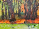 Spiegel des Narziss, Acryl auf Keilrahmen, 60x80 cm, vergeben