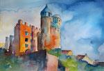 Blick auf Burg Greifenstein, 35x51 cm, 150 Euro ohne Rahmen