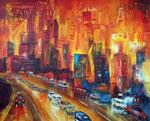 rush hour, Acryl 80x100 cm,  vergeben