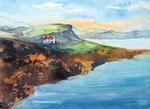 Irland, Ring of Kerry Nähe Waterville, Aquarell-Mischtechnik, 36x48 cm, 140 Euro ohne Rahmen