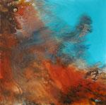 Erdformationen Resin und Acryl auf Keilrahmen 60x60 cm vergeben